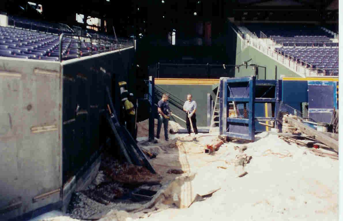 Atlanta Braves Left Field Fence and Gate