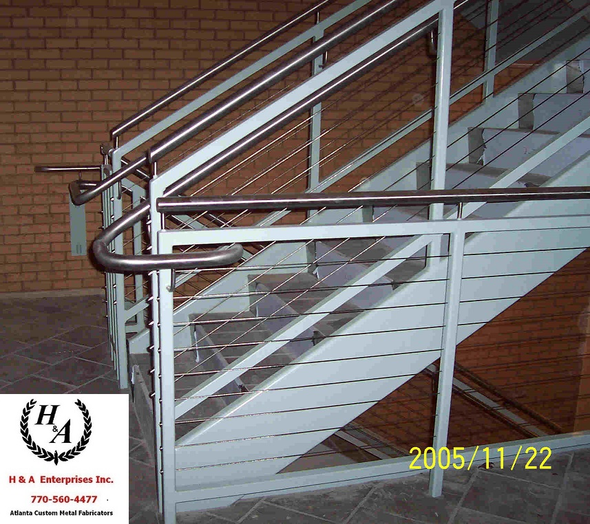 Polished Stainless Cable Rails Atlanta Handicap