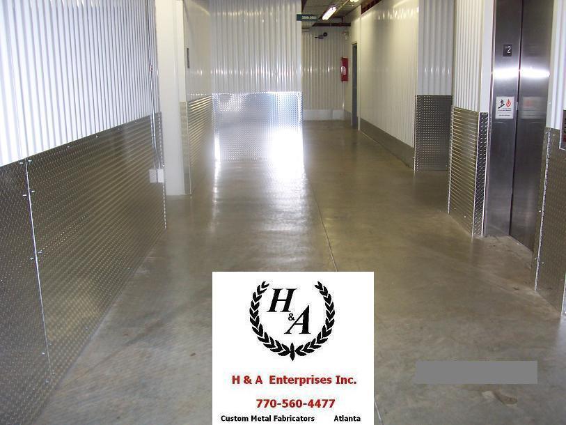 Storage Unit Wall Protection - Alumimun Deck Plate Atlanta GA
