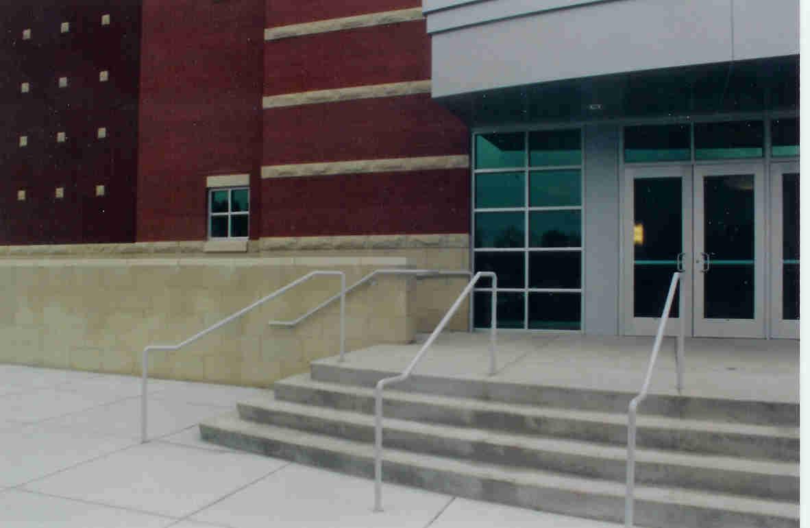 ADA Atlanta Handicap Ramp Hand Rails