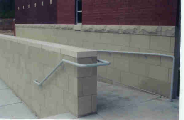 Wood Ramp Steel Hand Rails Atlanta GA - H & A Enterprises Inc Columbia SC Atlanta Hand Rails ADA Steel Polished Stainless Aluminum Handicap Ramp