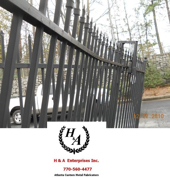 Automatic remote Controlled Atlanta Gate Repair Aluminum Gate Repair on Site Same Day Atlanta