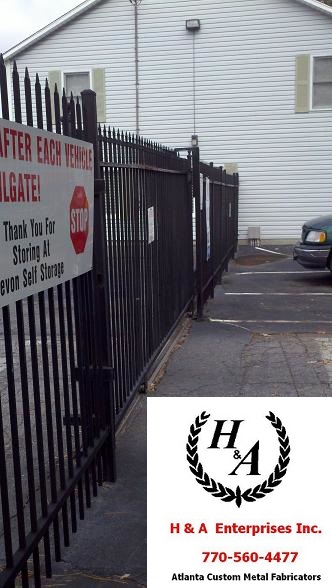 Damaged Automatic Gate Atlanta Aluminum Gate Repair on Site Same Day Atlanta Remote Controlled