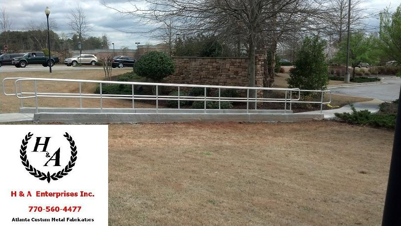 Polished Stainless Hand Rail Atlanta ADA Aluminum Handicap Hand Rails