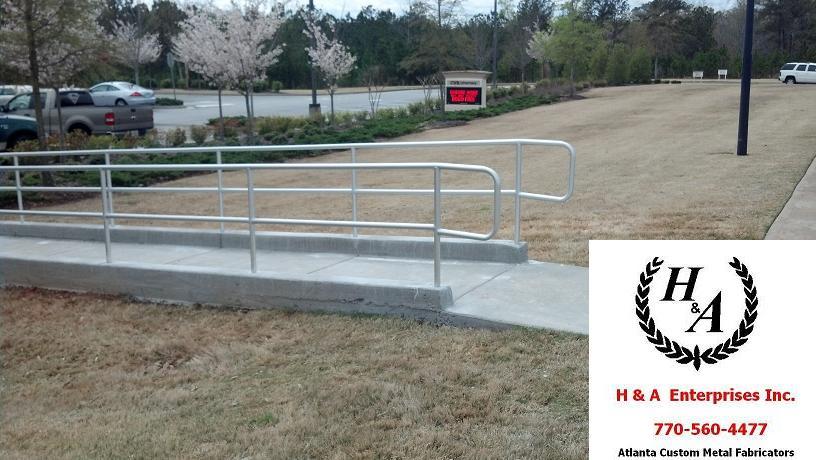 ADA Atlanta Aluminum Handicap Ramp Hand Rails