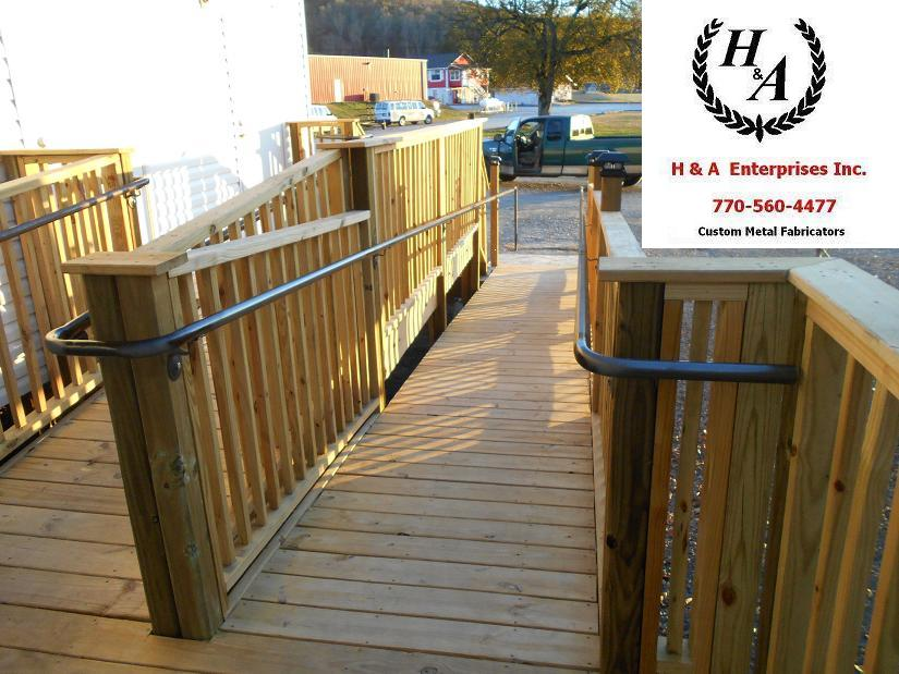 Wood Ramp Steel Hand Rails Atlanta GA - H & A Enterprises Inc