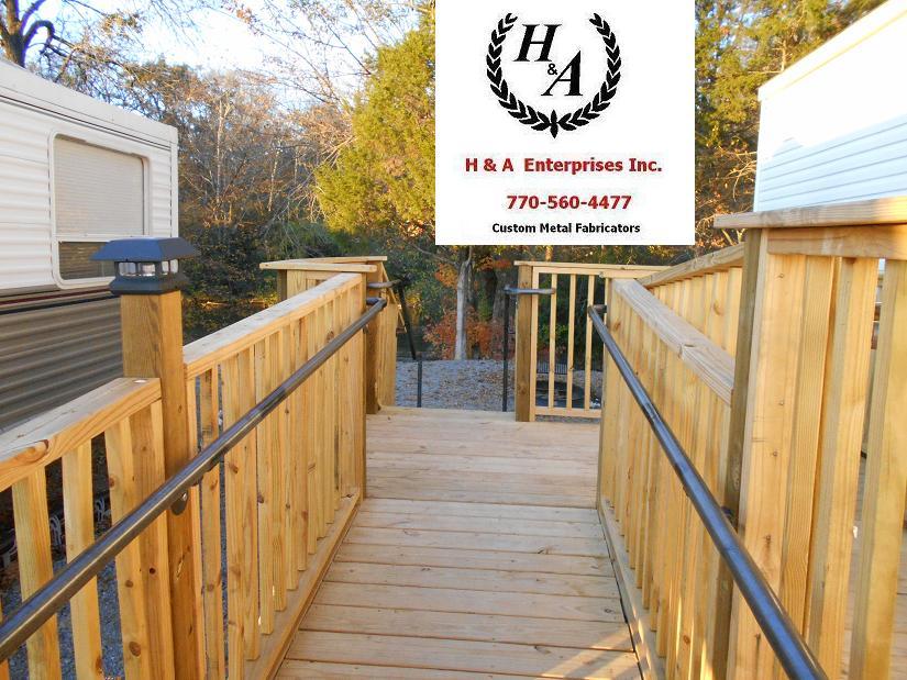 Wood Ramp Steel Hand Rails Atlanta GA Columbia SC- H & A Enterprises Inc