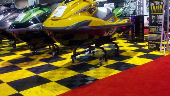 Atlanta Boat Show 2013 - Jet Ski Dollie - Stands - Carts